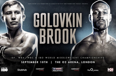 Choque de potencias. Golovkin VS Brook. Foto: BetBoxing.