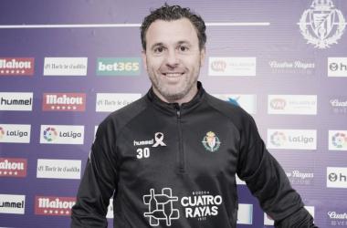 Sergio González, técnico del Valladolid // FUENTE: Real Valladolid
