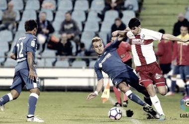 Melero disputa el balón | Foto: LaLiga.es