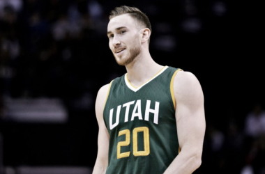 Gordon Hayward will be leaving the Utah Jazz green uniforms for the Boston Celtics ones. Photo: Brandon Dill/AP Photo.