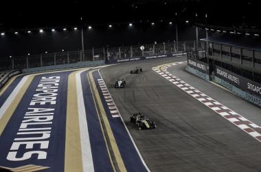 Circuito de Marina Bay la última vez que la F1 visitó Singapur. (Fuente: Twitter @F1NightRace)