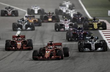 Salida del Gran Premio de Bahrein 2018 | Fuente: Getty Images