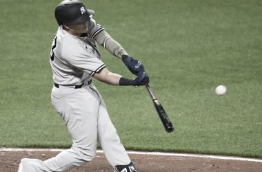Gio Urshela conectó cuadrangular, anotó tres veces e impulsó dos en la victoria de este jueves Foto: MLB
