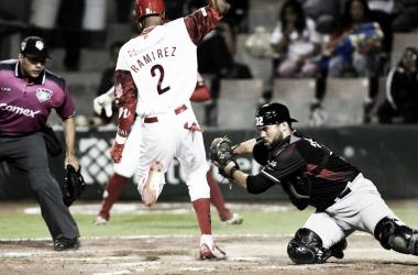 Ramírez estuvo participando de manera activa en el juego | Foto: Cortesía Diablos Rojos del México