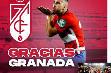 Fede Vico se despide agradecido del Granada CF