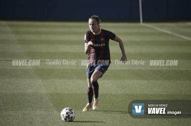Caroline Graham Hansen en un partido con el Fútbol Club Barcelona en la presente temporada | Foto de Noelia Déniz, VAVEL