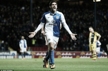 Above: Danny Graham in action for loan club Blackburn Rovers   Photo: Reuters