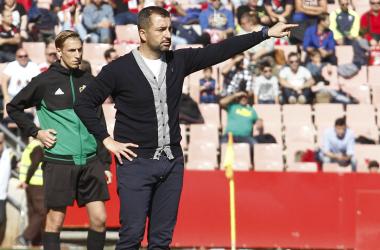 Diego Martínez durante el partido del Granada CF frente al Numancia. Foto: Antonio L Juárez