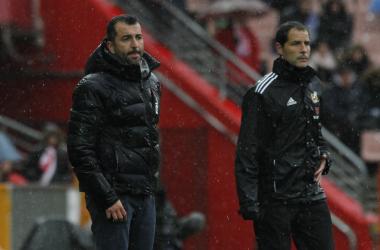 Diego Martínez en el partido Granada CF - Málaga CF | Foto: Antonio L. Juárez