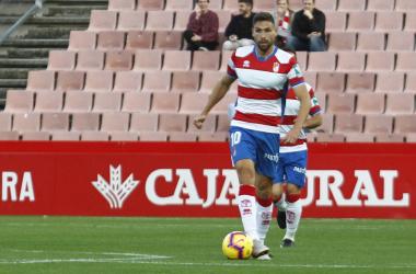 Puertas es el máximo goleador del Granada [Foto Antonio L. Juárez]