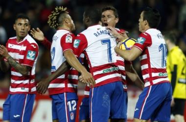 El Granada remontó el año pasado con goles de Ramos y Álex Martínez. Foto: Pepe Villoslada/ Granada CF