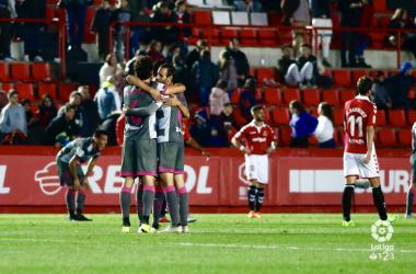 El Granada CF celebra la victoria ante el Gimnàstic de Tarragina SAD / FOTO: LaLiga