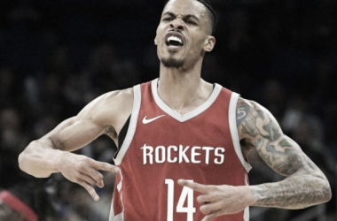 Gerald Green has been showing off the Houston hand sign after every big play of his, and it's been amazing watching him rep the city. Photo Credit: Phelan M. Ebenhack/AP Photo.
