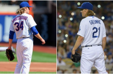 Noah Syndergaard (left) and Zack Greinke (right) face off in Game 2 of the NLDS tonight -- USATSI