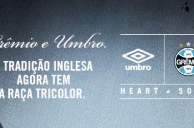 Grêmio anuncia oficialmente a Umbro como nova fornecedora de uniformes para 2015