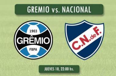 Resultado Grêmio - Nacional por la Copa Libertadores 2014 (1-0)