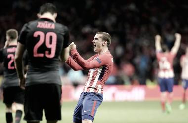 Antoine Griezmann celebra el pase a la final de la Europa League || FOTO: Club Atlético de Madrid.