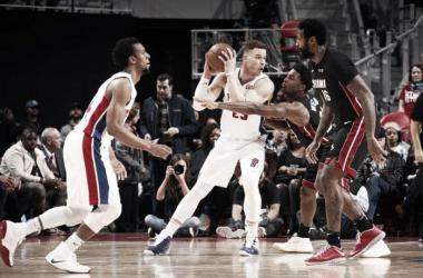Blake Griffin durante el partido de esta madrugada| Foto: Galería oficial de los Detroit Pistons
