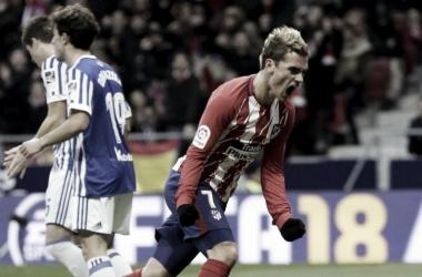 Griezmann celebrando un gol contra su ex equipo / Foto: marca.com