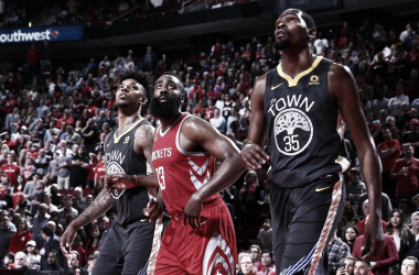 Nick Young, James Harden e Kevin Durant. Fonte: NBA/Twitter