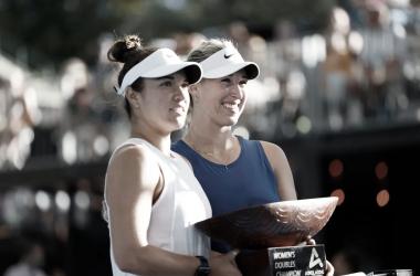 Chilena e estadunidense conquistaram maior título da carreira (Foto:David Mariuz/Tennis Australia)