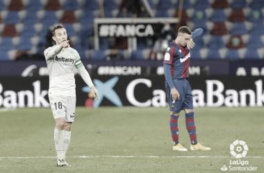 Guardado en su último partido disputado con el Betis, ante el Levante. Foto LaLiga Santander