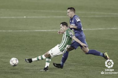 Andrés Guardado durante el Real Betis-Getafe de la pasada temporada. Foto:LaLiga Santander.