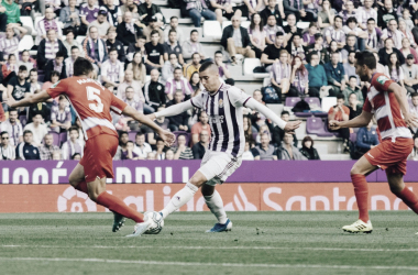S.Guardiola con el balón// FOTO: RealValladolid.es
