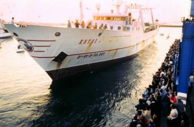 El pesquero Estai llegando a Vigo desde Canadá. Fuente: Atlantico.net