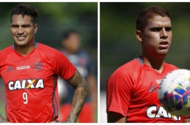 Titular do Peru, Guerrero tem situação mais complicado. Cuéllar tem mais chances de enfrentar o Vasco (Foto: Gilvan de Souza/Flamengo)