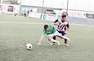 Imagen correspondiente al partido de ida entre el CD Guijuelo vs CCD Cerceda | Foto: CD Guijuelo