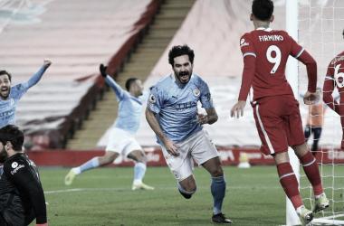 Manchester City aproveita erros e vence Liverpool em Anfield