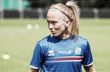 Iceland's Gunnhildur Jónsdóttir is joining Utah Royals FC for their inaugural season in the National Women's Soccer League. | Photo: @fanly_realslc
