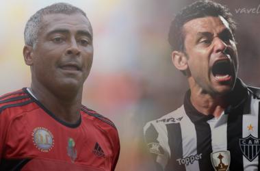 Romário e Fred, referências de suas épocas quando o assunto é gol (Foto: Arte: Rodrigo Rodrigues/Editoria de Arte)