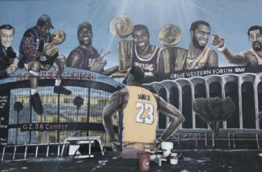 Último mural dedicado en Los Ángeles a Lebron James /Gustavo Zermeno ESPN