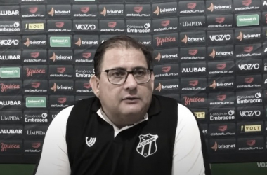 """Guto Ferreira admite queda de rendimento do Ceará, mas afirma: """"Fomos mais agressivos"""""""