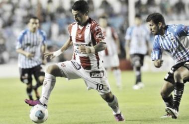 """Marcos Aguirre, el autor del primer gol para que la """"Gloria"""" vuelva al triunfo. (Foto: Página Gimnasia y Esgrima de Jujuy)"""