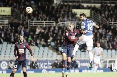 Willian José marca el 1-0. Foto: Real Sociedad