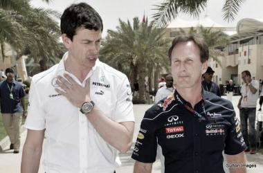 A relação entre Wolff e Horner actualmente não é das melhores (foto:Sutton Images)