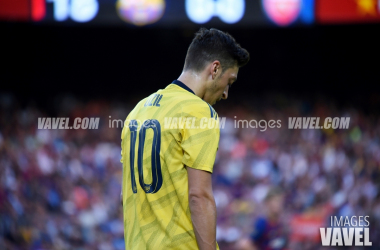 Ozil en el Trofeo Joan Gamper 2019 | Foto: Noelia Deniz