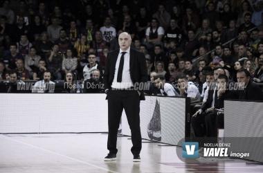 """Pablo Laso, tras la victoria ante Valencia Basket: """"Estoy muy contento por el trabajo de todos"""""""