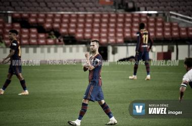 Miralem Pjanić en un partido con el Fútbol Club Barcelona durante la presente temporada | Foto de Noelia Déniz, VAVEL