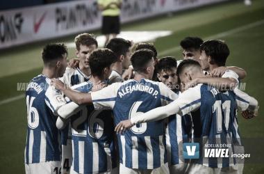 Los jugadores del Espanyol B durante un partido | Foto: Noelia Déniz-VAVEL