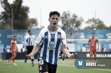 Iván Gil celebrando su gol ante el Azteneta. | Foto: Noelia Déniz - VAVEL