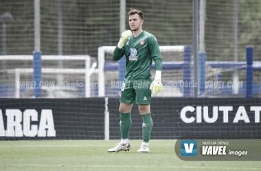Ángel Fortuño durante un partido de esta temporada. | Foto: Noelia Déniz - VAVEL