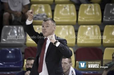 Jasikevicius, durante un partido esta temporada. | Foto: Noelia Déniz (VAVEL)