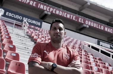 Insaurralde con la casaca roja (Foto: Prensa CAI)