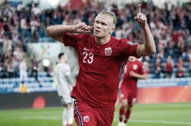 Haaland anotó en el empate de Noruega ante Paìses Bajos / foto: RPP