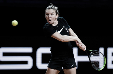 Simona Halep venceuEkaterina Alexandrova noWTA 500 de Stuttgart 2021 (WTA / Divulgação)