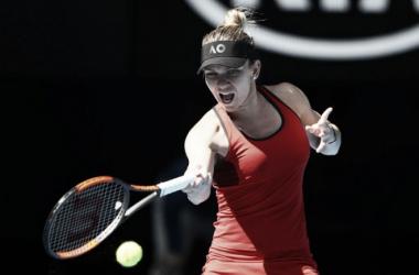 Halep, en el Australian Open. Foto: zimbio